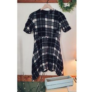 Zara | Wool Blend Plaid Dress